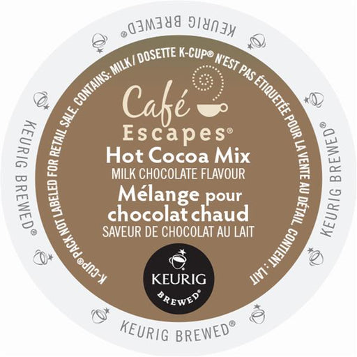 Keurig® Cafe Escapes Milk Chocolate Flavour Hot Cocoa Mix, 24 pods / pack