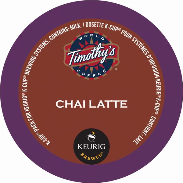 Keurig® Timothy's® Chai Tea Latte, 24 pods / pack