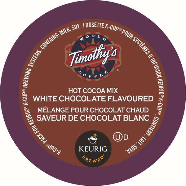 Keurig® Timothy's® Hot Cocoa Mix White Chocolate, K-Cup Packs, 24/Pack