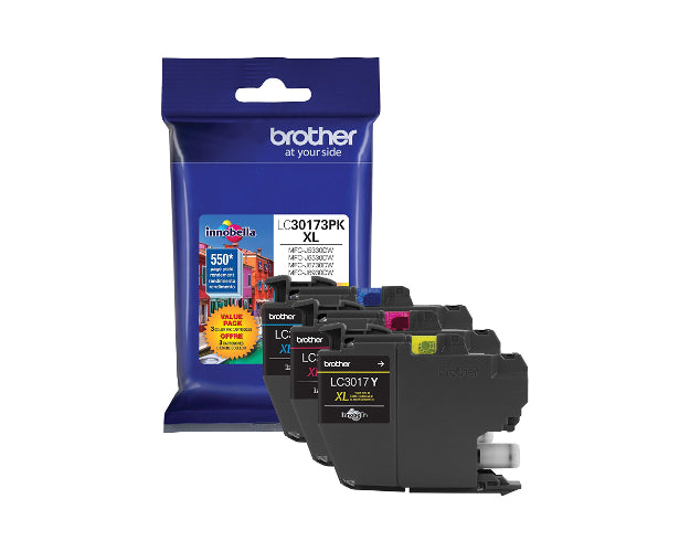 Brother LC30173PK - 3-pack - XL - yellow, cyan, magenta - original - ink cartridge