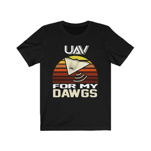 UAV for My Dawgs Sunset Short Sleeve Tee
