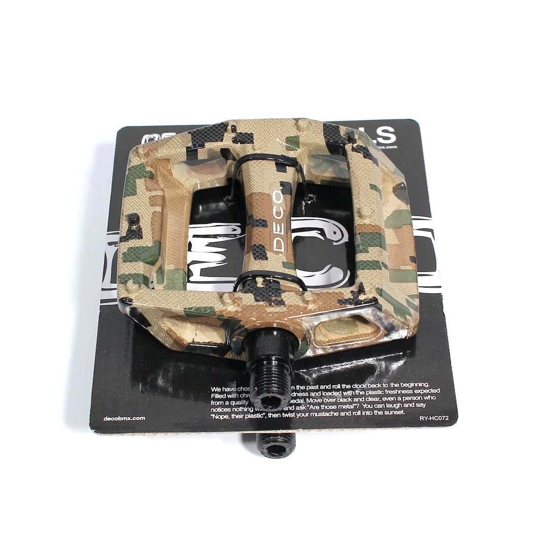DECO BMX NATURAL CAMO PC PEDALS