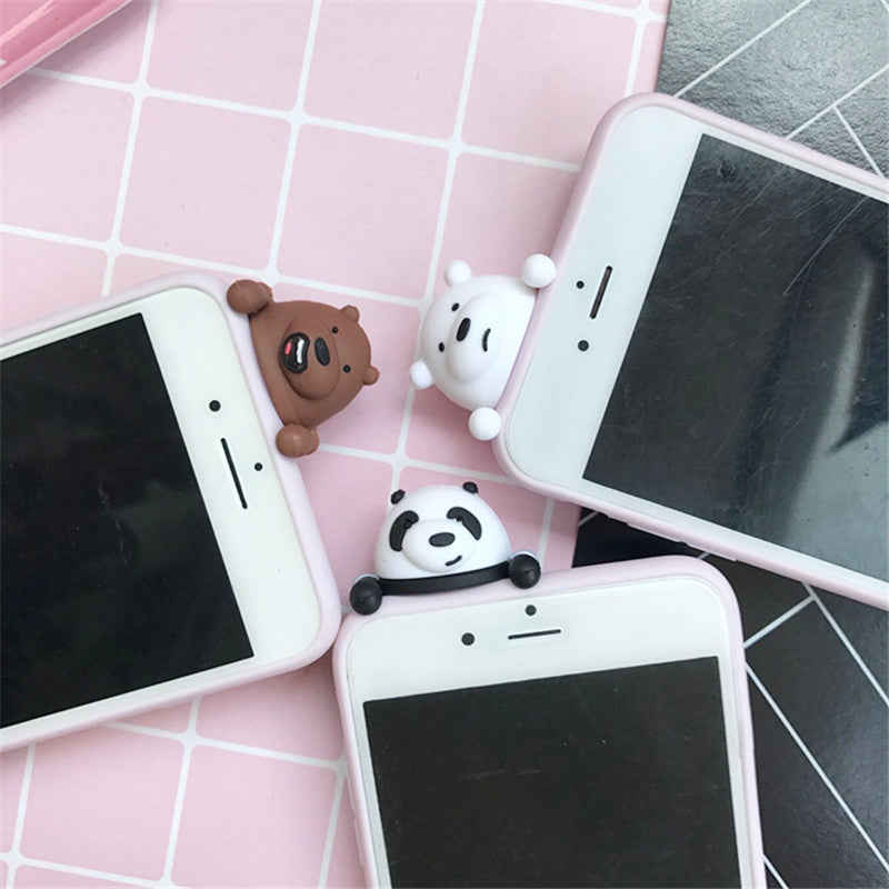coque iphone 6 panda 3d
