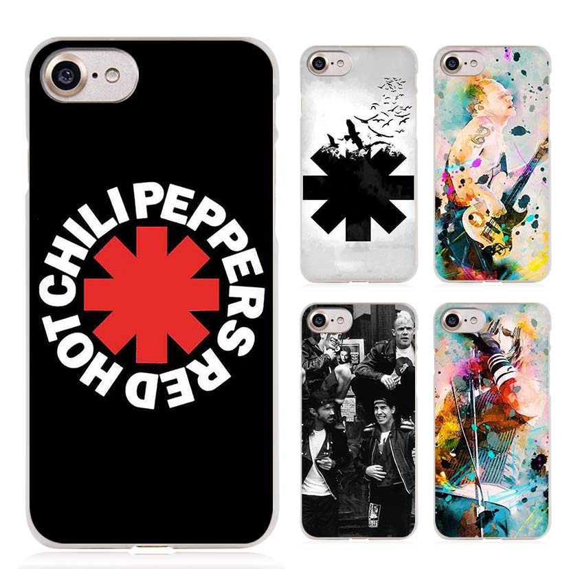 Rock band Red Hot Chili Peppers Cellules Claires T l phone Case Couverture pour Apple iPhone