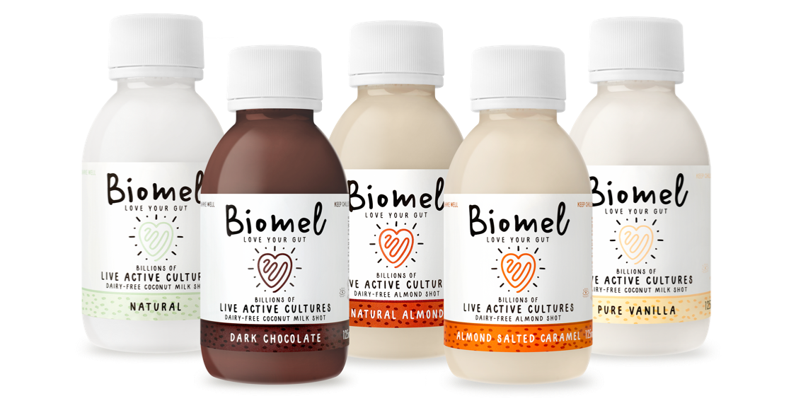 Biomel, Dairy Free, Non Dairy, Vegan, Probiotic, Probiotics, Probiotic Drink, Probiotic Drinks, Gut Health, Love Your Gut