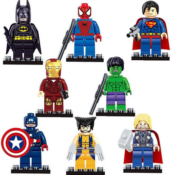 Lego Compatible Hero's 8pc set