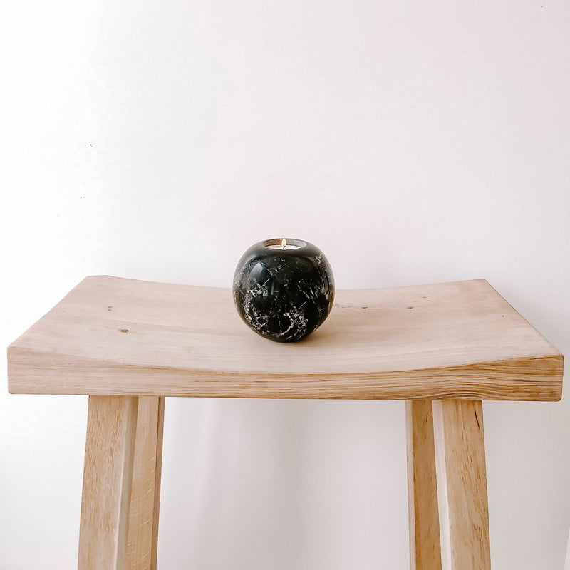 Marble Sphere Tea Light Holder-Homeware-Blonde and Stone