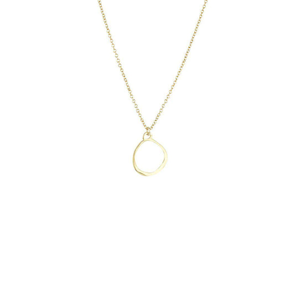 Organic Circle Necklace-Necklace-Blonde and Stone