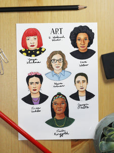 Women Artists Stickers