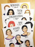 Women Scientists Stickers