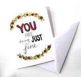 You Are Doing Just Fine card