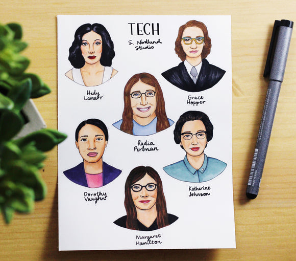 Tech Women Stickers