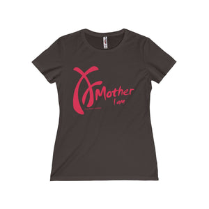 Mother I am, Pink on Black, Limited Edition - Round Neck