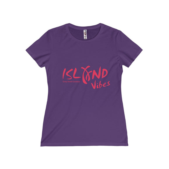 Island Vibes, Pink on Purple, White, Black or Charcoal, Limited Edition