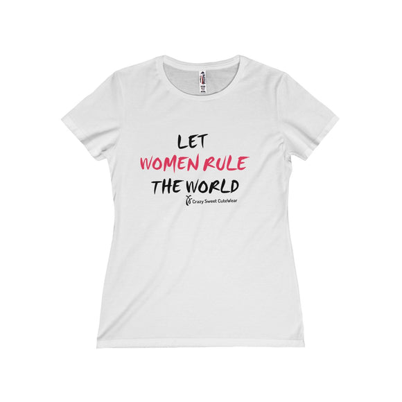 Let Women Rule the World, XX Power Collection, Pink & Black on White, Limited Edition