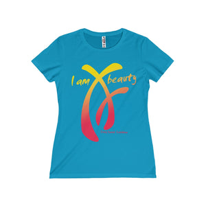 I am Beauty Collection, Yellow & Pink on Turquoise, Limited Edition