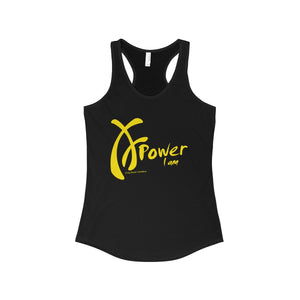 Power I am, Yellow on Black, Tank Top Collection