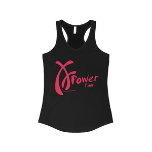 Power I am, Pink on Black, Tank Top Collection