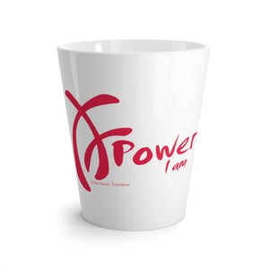 Power I am Collection, Pink on White, Lattte Mug