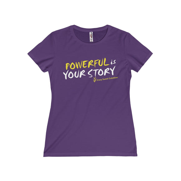 Powerful Is Your Story, XX Power Collection, Yellow & White on Purple, Limited Edition
