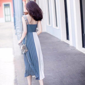 Arianne Side Pleated Maxi Dress