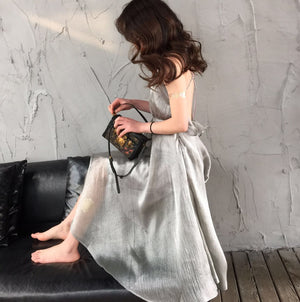 Silver Lining Ruffle Back Dress
