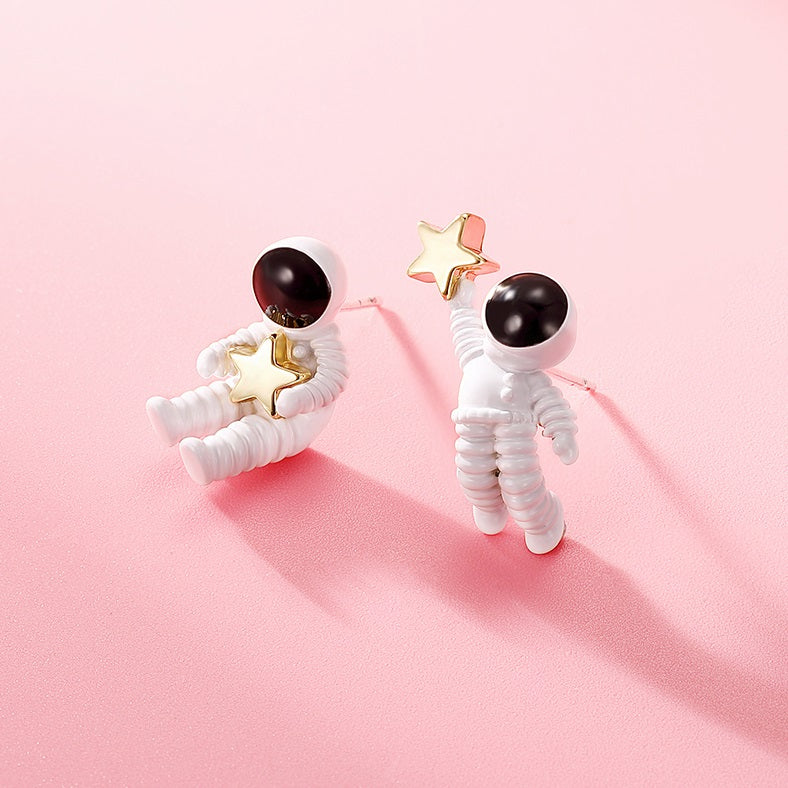 To the Moon and Back Stud Earrings