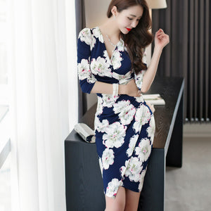 Azalea Floral Print Wrap Dress