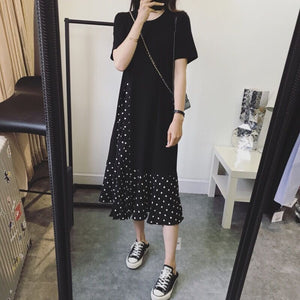 Kattie Polkadot Loose Shirt Dress