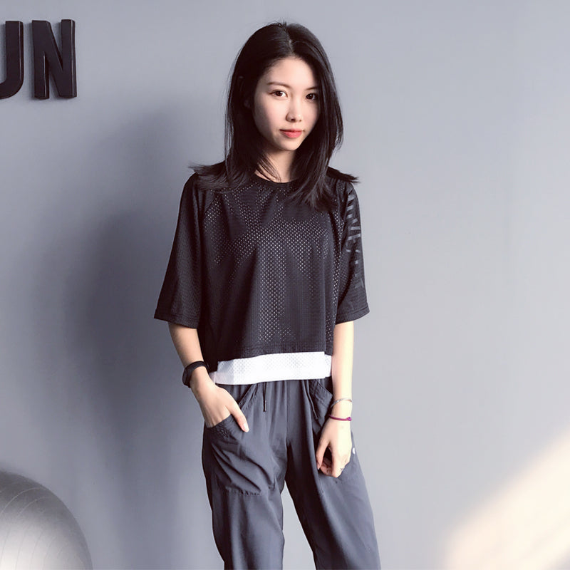Clecio Breathable Double Layer Mesh Tee