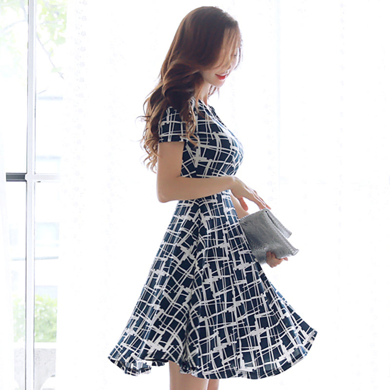 Libbie Abstract Gingham Dress