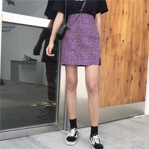Panthera Leopard Print Mini Skirt