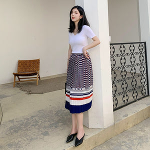 Brooklynn Colour-Block Pleated Skirt
