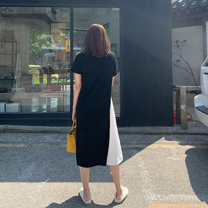 Aimer Dual-Tone Shirt Dress