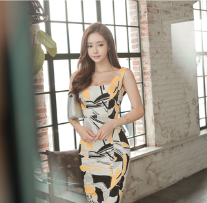 Sandara Abstract Print Midi Dress