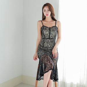 Nyra Strappy Lace Dress