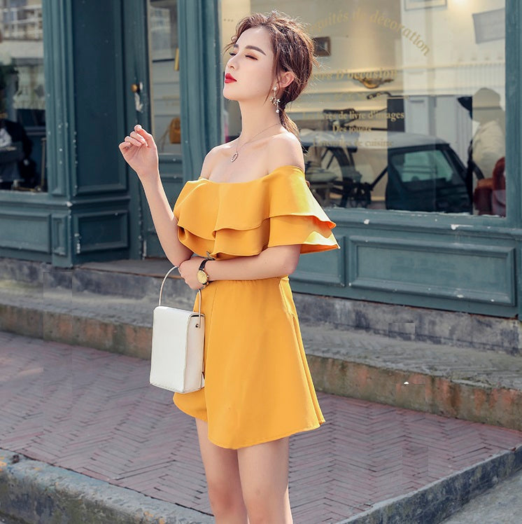 Lauredia Off-Shoulder Romper [4 colors]