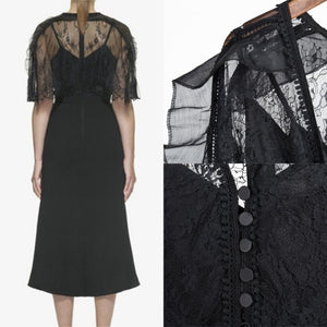 Cecilie Over-the-Shoulder Lace Dress