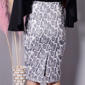 Alyla Snake Print Pencil Skirt