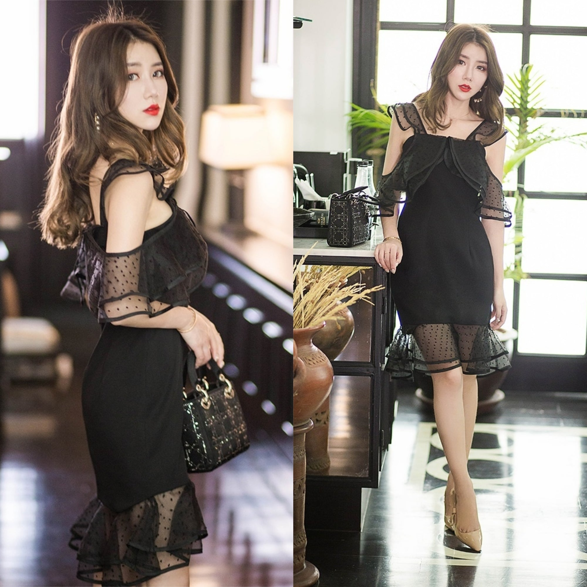 Gloria Black Cocktail Dress
