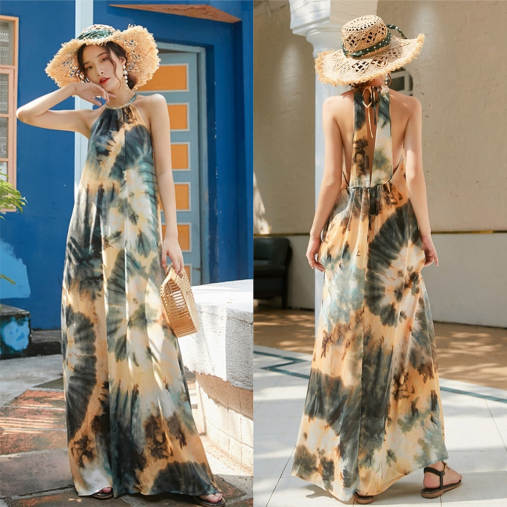 Hailey Hollow-Dye Maxi Dress