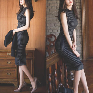 Tavia Stripe Statement Dress