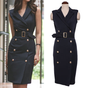 Sydney Button Detailed Mini Tux Dress