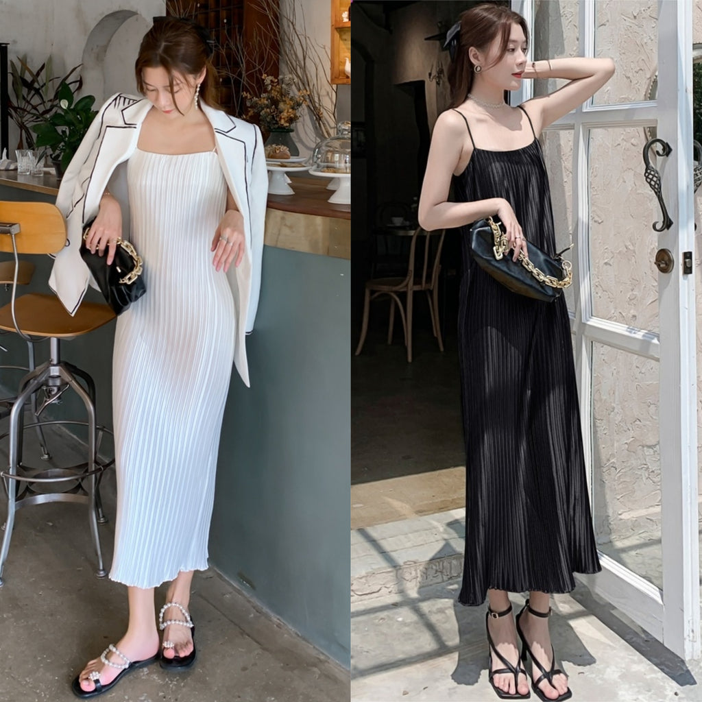 Olivier Pleat Maxi Dress