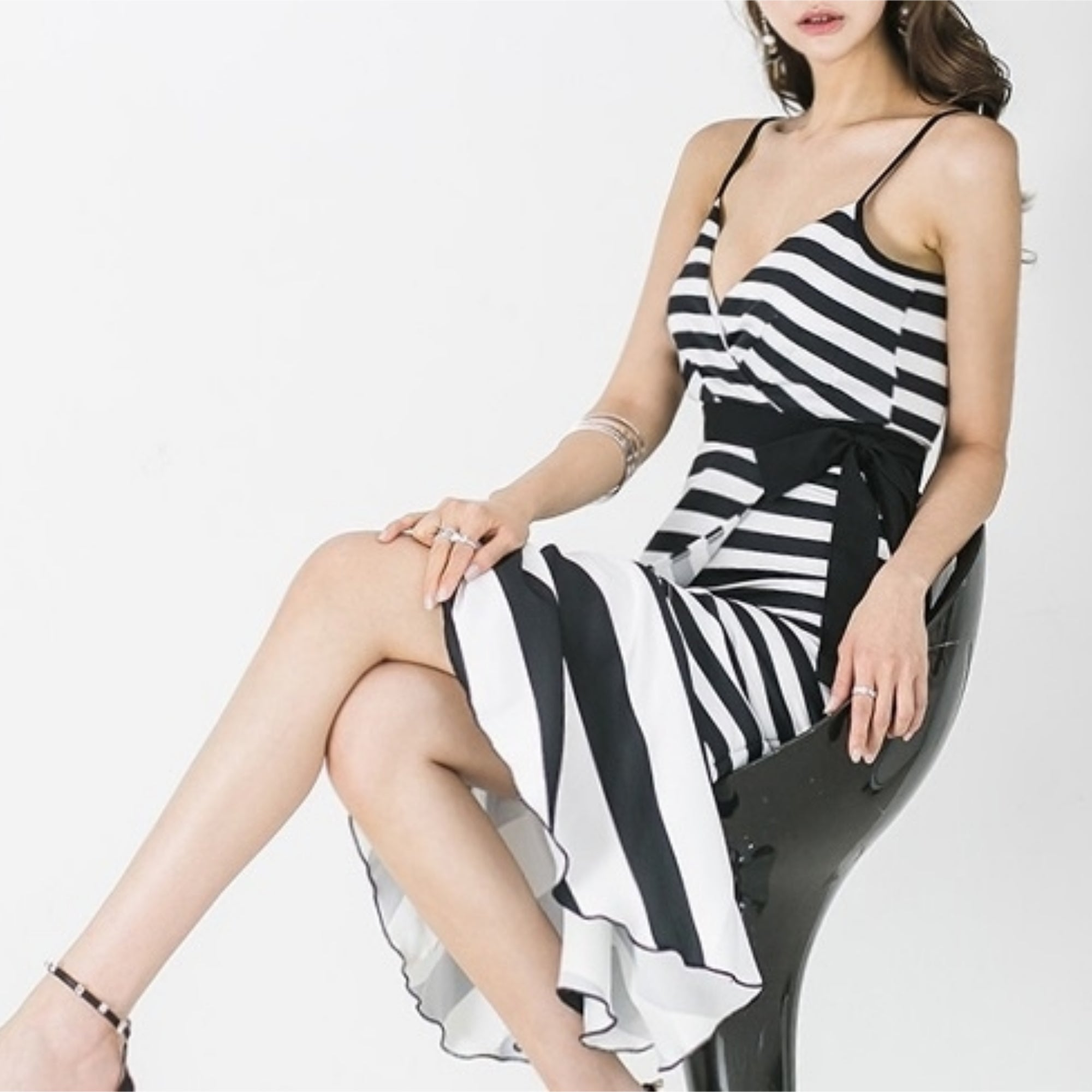 J'amie Stripe Midi Dress