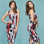 Elethea Digital Print Midi Dress