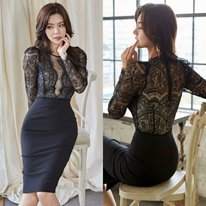 Leila Lace Overlay Dress