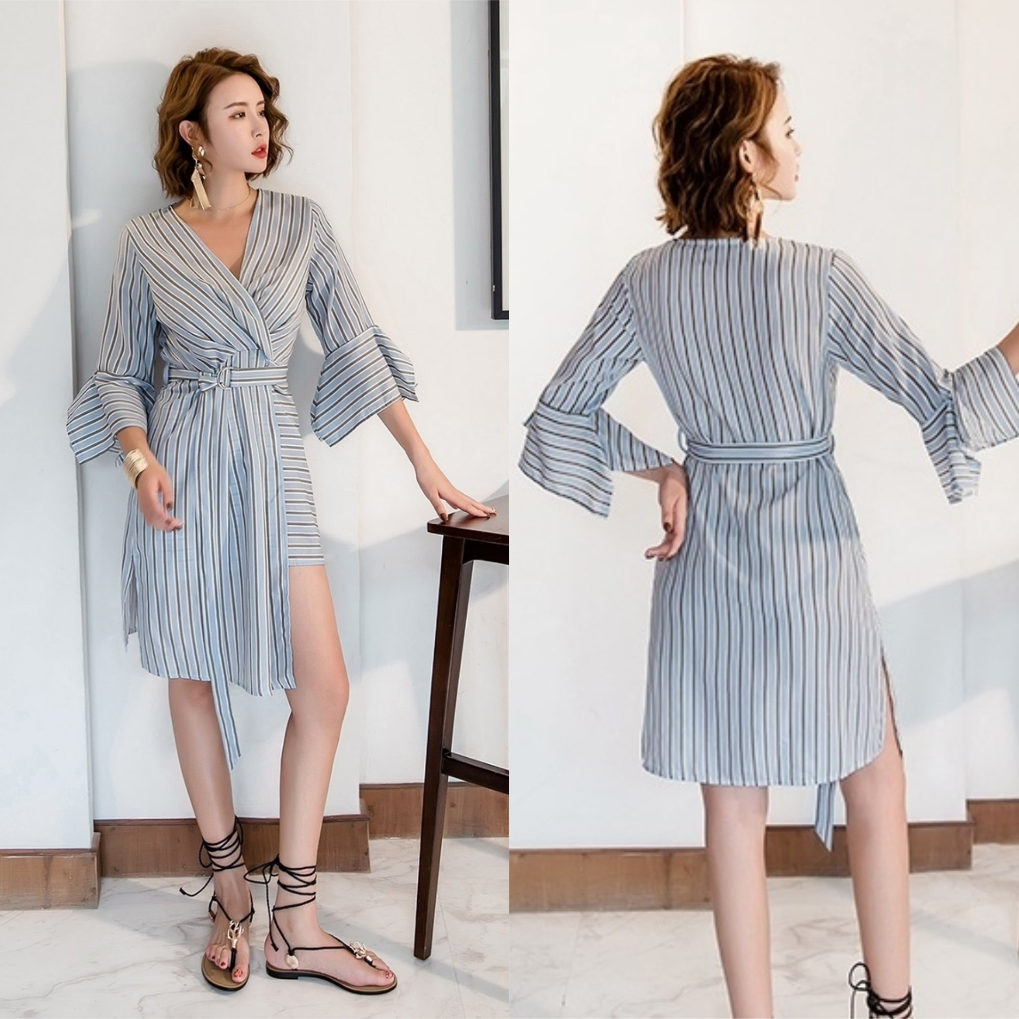 Valencia Asymmetric Shirt Dress