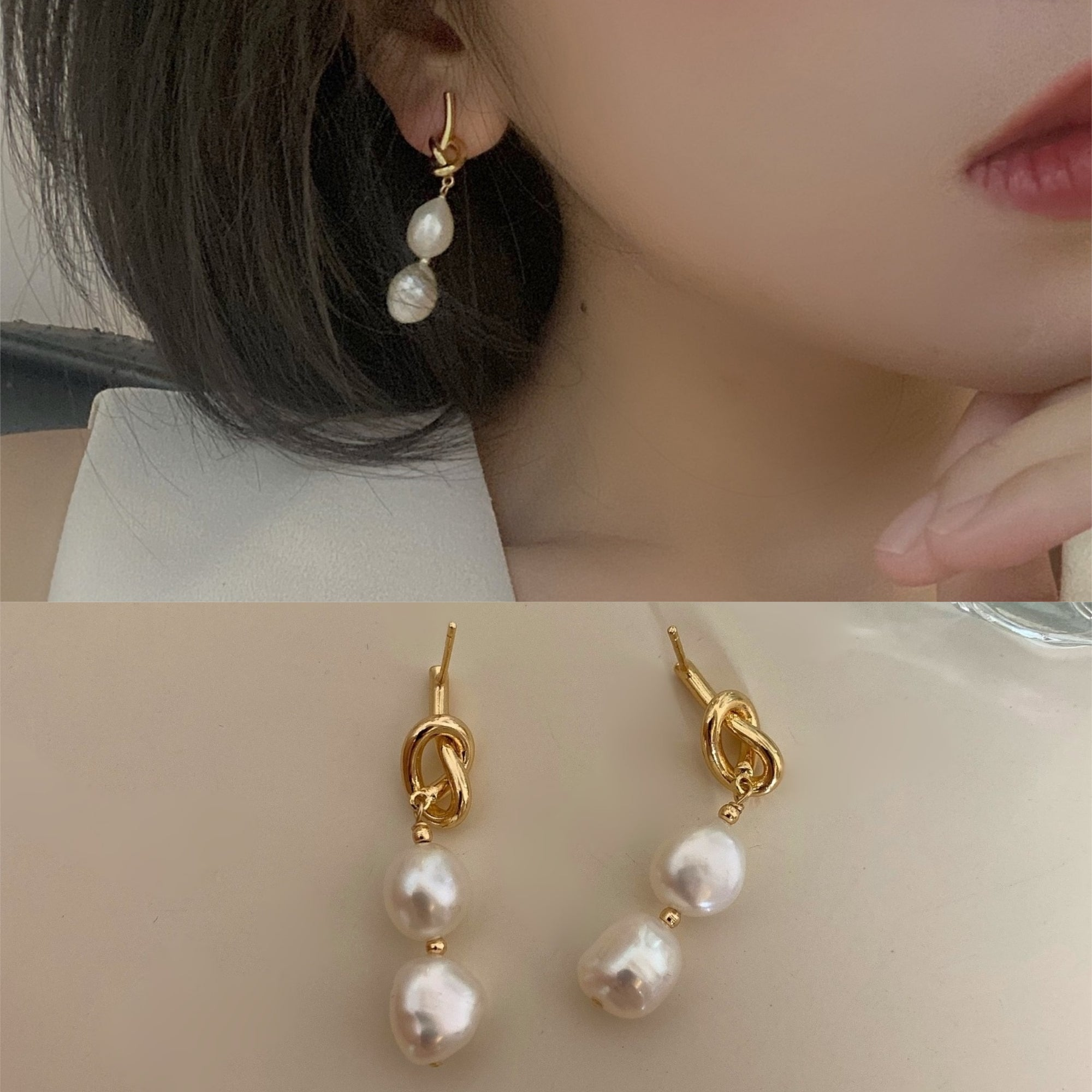 Eva Baroque Pearl Earrings