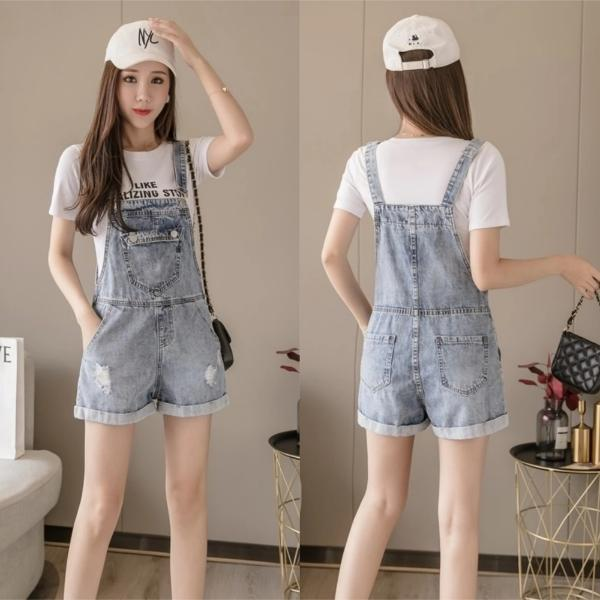 Winifred Denim Overall Shorts